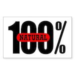 100 Percent Natural Rectangle Sticker
