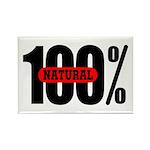 100 Percent Natural Rectangle Magnet