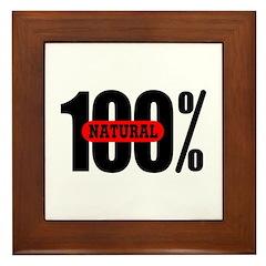 100 Percent Natural Framed Tile