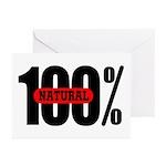 100 Percent Natural Greeting Cards (Pk of 10)
