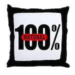 100 Percent Natural Throw Pillow