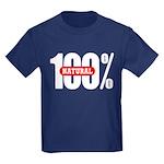 100 Percent Natural Kids T-Shirt Dark Colored