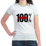 100 Percent Natural Jr. Ringer T-Shirt