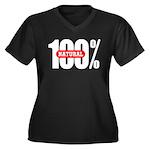 100 Percent Natural Women's Plus Size V-Neck Dark