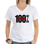 100 Percent Natural Women's V-Neck T-Shirt