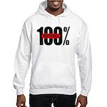 100 Percent Natural Hooded Sweatshirt