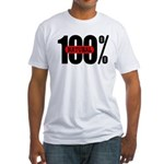 100 Percent Natural Fitted T-Shirt