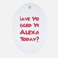 Have You Hugged Your Alexa? Oval Ornament