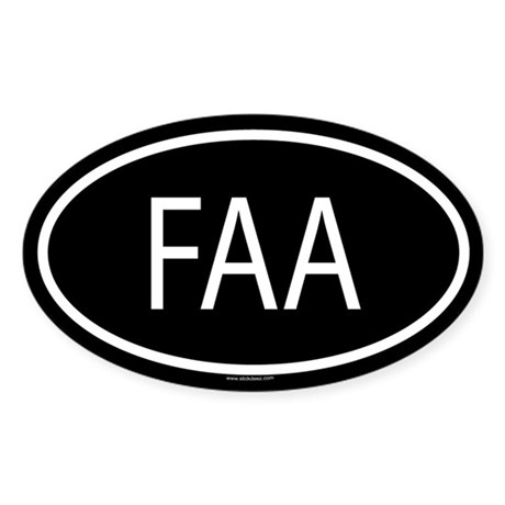 FAA Oval Sticker