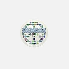Retro Peace Sign Imagine Mini Button