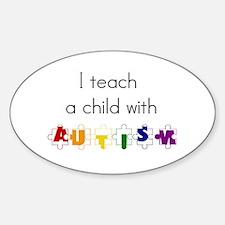 I Teach... Oval Bumper Stickers