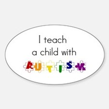 I Teach... Oval Stickers