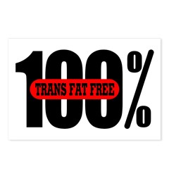 100 Percent Trans Fat Free Postcards (Package of 8