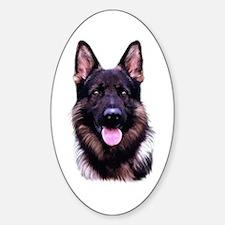 German Shepherd Oval Decal
