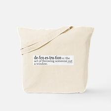 Defenestration Tote Bag