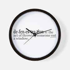 Defenestration Wall Clock
