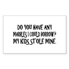 Parents lost their marbles Rectangle Decal