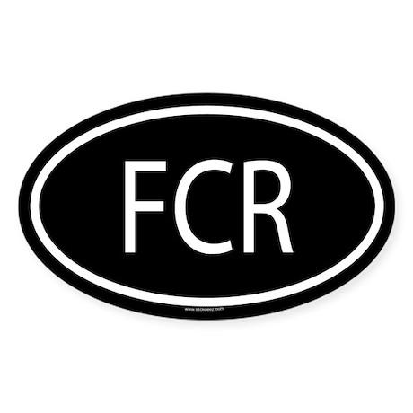 FCR Oval Sticker