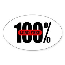 100 Percent Lead Free Oval Decal