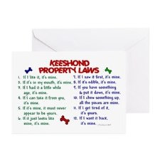 Keeshond Property Laws 2 Greeting Cards (Pk of 10)