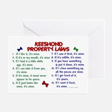 Keeshond Property Laws 2 Greeting Card