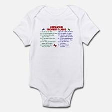 Keeshond Property Laws 2 Infant Bodysuit
