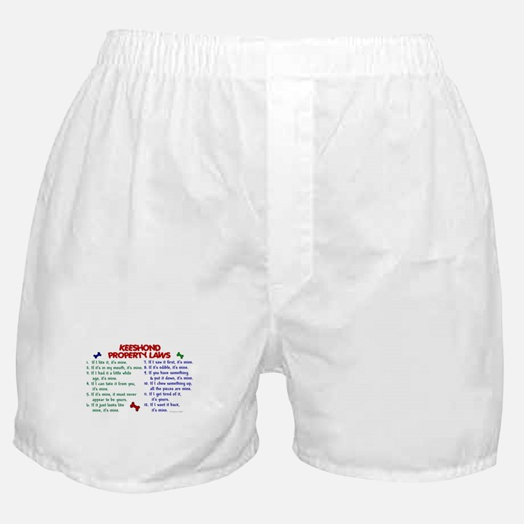 Keeshond Property Laws 2 Boxer Shorts