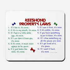 Keeshond Property Laws 2 Mousepad