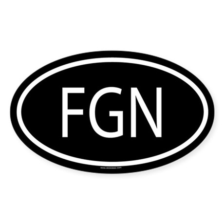 FGN Oval Sticker