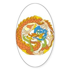 Dragon Knot 13 Oval Decal