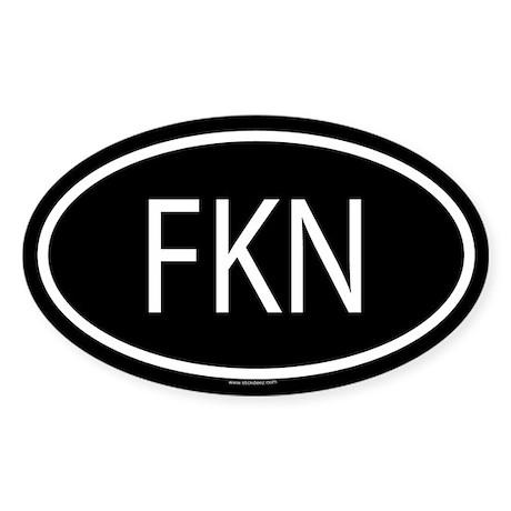 FKN Oval Sticker