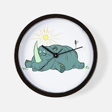 Sleepy Rhino Wall Clock