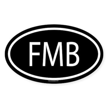 FMB Oval Sticker