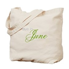 due in june Tote Bag