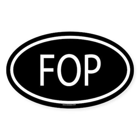 FOP Oval Sticker