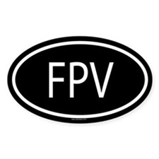 FPV Oval Decal