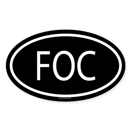 FOC Oval Sticker