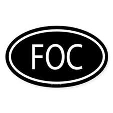 FOC Oval Stickers