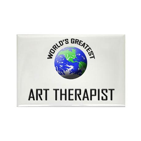 World's Greatest ART THERAPIST Rectangle Magnet