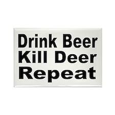 Drink Beer, Kill Deer Rectangle Magnet (10 pack)