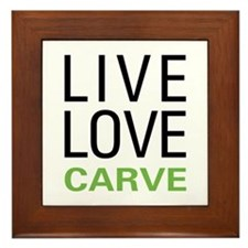 Live Love Carve Framed Tile