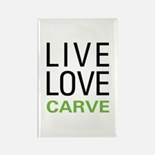 Live Love Carve Rectangle Magnet
