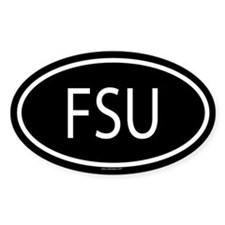 FSU Oval Decal
