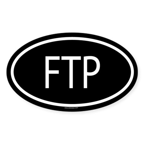 FTP Oval Sticker