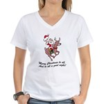 Merry Christmas To All Women's V-Neck T-Shirt