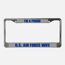 U.s. Air Force Wife License Plate Frame