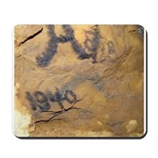 1940 Writing on Mine Wall Mousepad