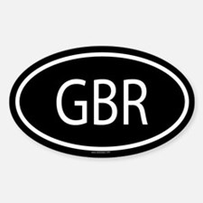 GBR Oval Decal