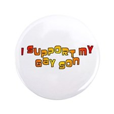 "I Support My Gay Son Orange 3.5"" Button"
