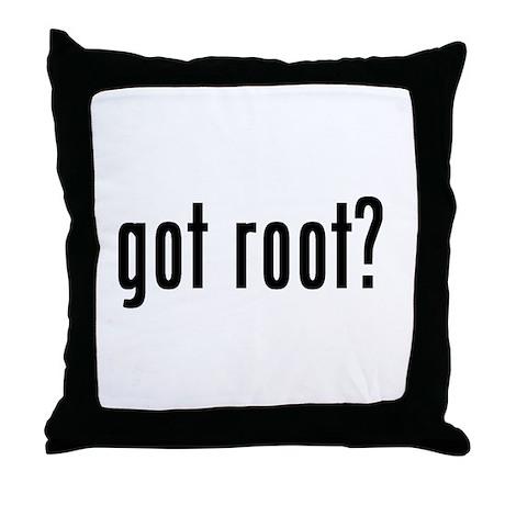 got root? Throw Pillow
